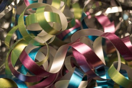 asher: Pretty curly gift ribbons  Stock Photo