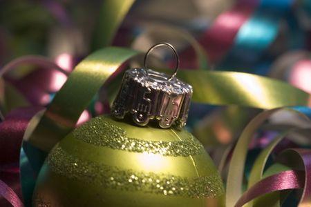 asher: A pretty Xmas light ornament in mustard green