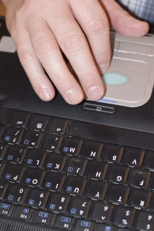 man working on his computer Reklamní fotografie