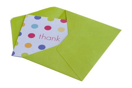 ありがとうカードと封筒 写真素材
