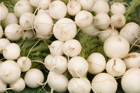 Oriental radish with bright red flesh - also known as Shinrimei photo