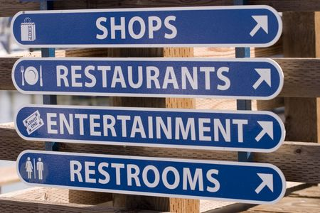 waterfront signage photo