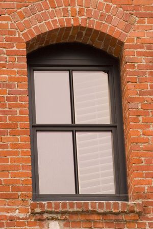 brick framed window