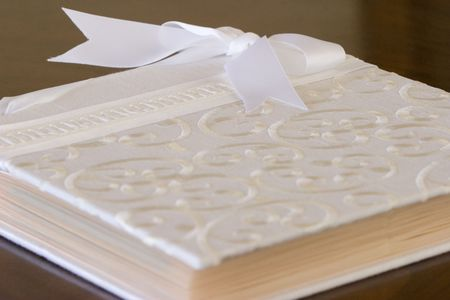 white wedding photo album