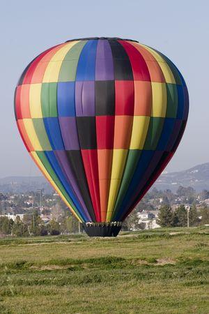 Pallone ad aria calda in California, paese del vino