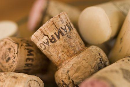 champagne and wine corks photo
