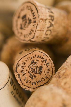 cork: corchos de vino  Foto de archivo