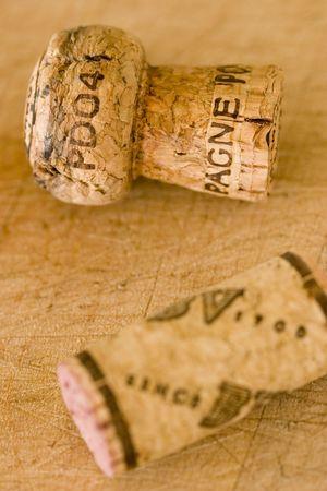 two wine corks photo