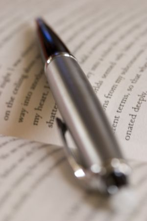 prosa: Elegante penna e un romanzo Archivio Fotografico