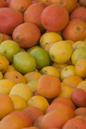 sunday market: frutas frescas en el domingo de mercado