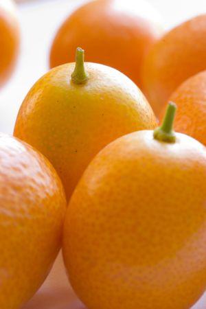 sunday market: Kumkuats - Chinese citrus treats Stock Photo