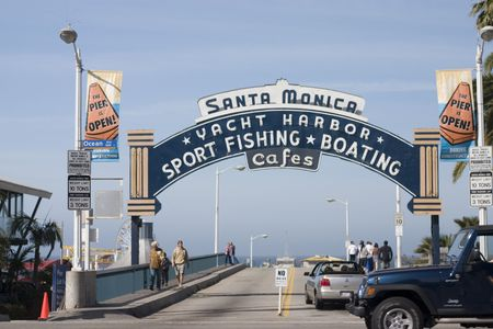 Entrance to the famous Santa Monica Pier