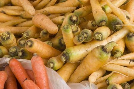 sunday market: Fresh carrots for sale at the sunday market Stock Photo