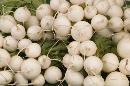 Oriental ball shaped radish, also called Shinrimei photo