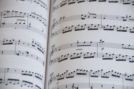 Toma nota de la música para piano Foto de archivo - 3472280