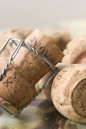 champagne andwine corks