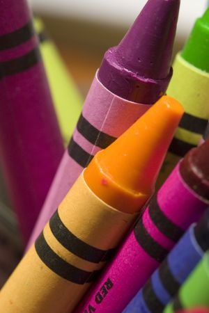 A childs crayons