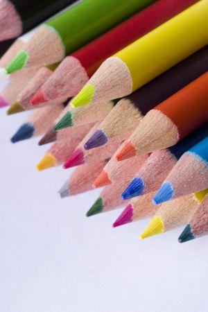 jardin de infantes: l�pices de color Foto de archivo