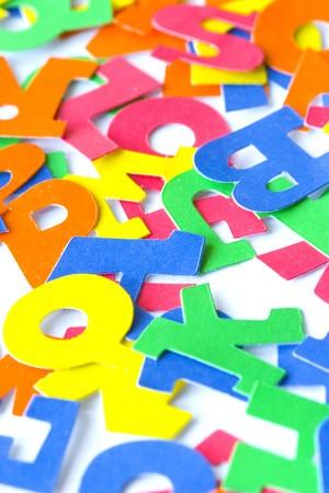 childs alphabet letters photo