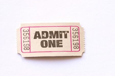 Admit One ticket photo