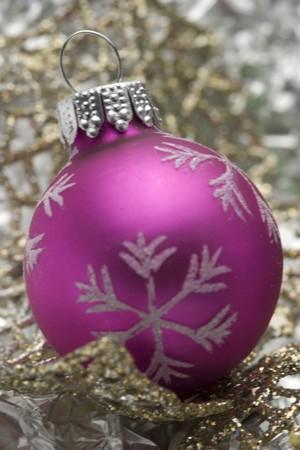 Pink Xmas ornaments Stock Photo - 4010403
