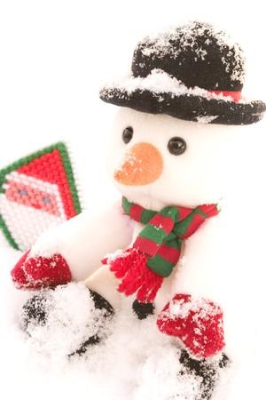 cute snowman  Reklamní fotografie