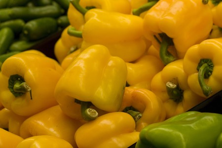 bell peppers: sweet bell peppers Stock Photo