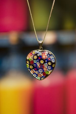 old items: pretty heart shape pendant necklace