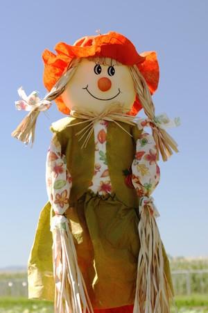 scarecrow: gran Espantap�jaros en el parche de calabaza