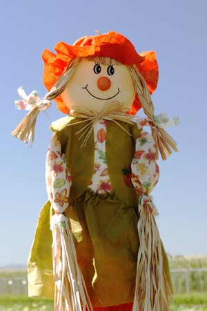 scarecrow: large scarecrow at the Pumpkin patch