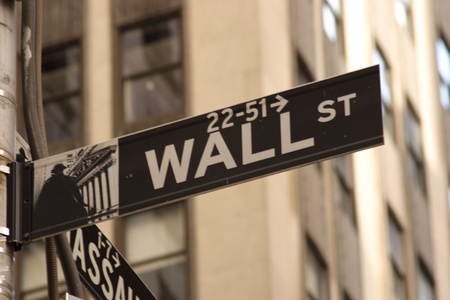 Classic Wall Street direction sign Stock Photo