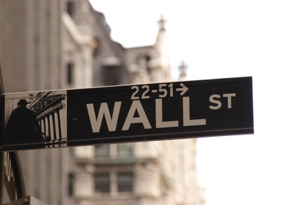 Famous Wall Street direction sign photo