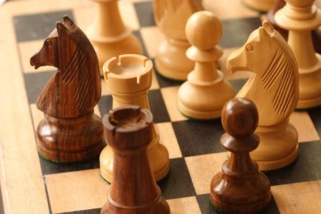 Juego de ajedrez Foto de archivo - 9750527