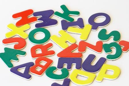 Conjunto de alfabeto de ABC del niño Foto de archivo - 9750510