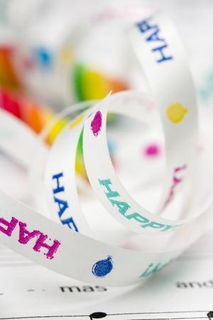 pretty holiday  gift ribbons Banco de Imagens