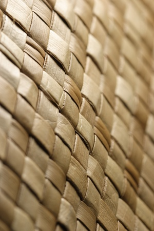 home accent: Home accent artisan woven reed basket  Stock Photo
