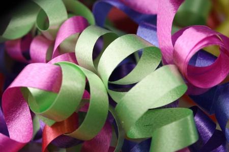 Bastante rosa y verde de Navidad cintas Foto de archivo - 10465294