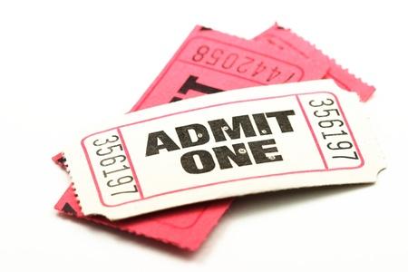 Admitir una entradas Foto de archivo - 10564091