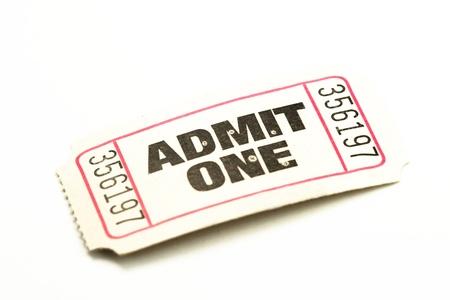 分離された 1 つのチケットを認める