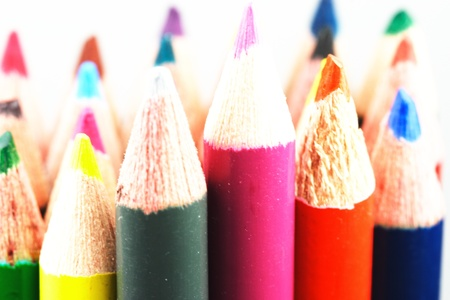 assorted colored pencils close up Stock Photo - 10564094