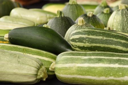 cucumbers: Organic cucumbers for sale Stock Photo