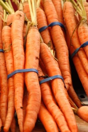 Zanahorias frescas de granja en venta Foto de archivo - 10763596
