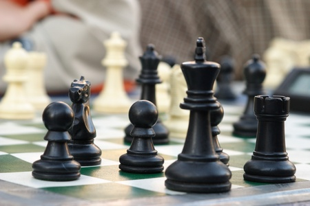 chess in the city Stock Photo - 10763591
