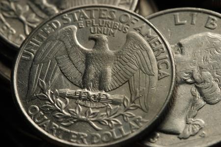 25 cents: US quarters