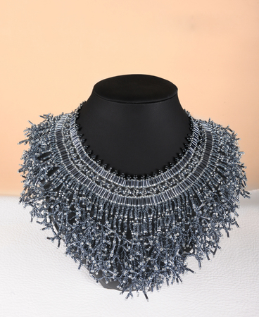 309f871e10c2 Beaded collar. Vintage lace detachable collar-necklace. Embroidery  handmade. Decor for wedding