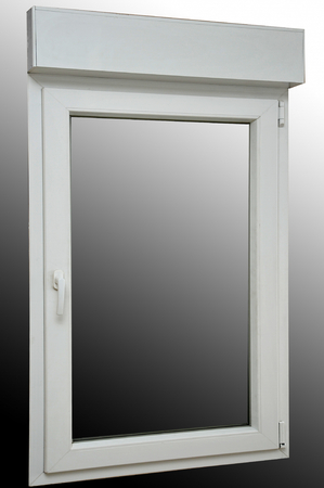door casing: plastic window
