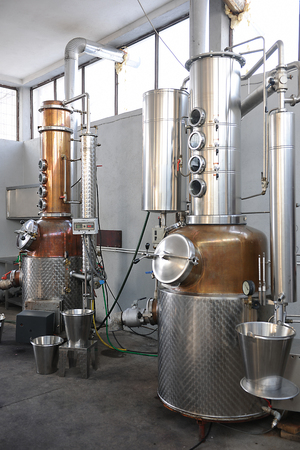 Part of the technology of producing brandy Stok Fotoğraf