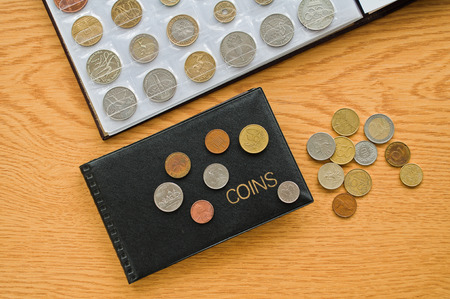 numismatic: Numismatic albums with coins