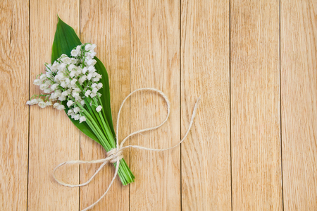 Bouquet of flowers on the lily of the valley Stock Photo