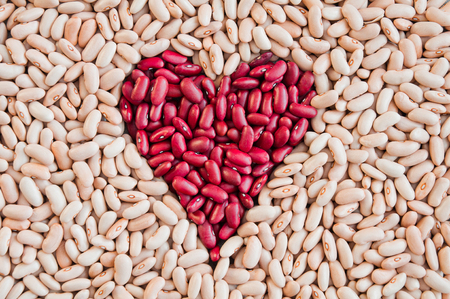 Beans in the form of heart